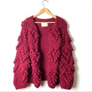 Chicwish | Knit Your Love Cardigan In Wine